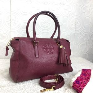 🌸OFFERS?🌸Tory Burch Leather Satchel with Tassel